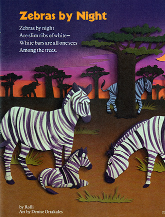 Zebras by Night, paper sculpture © Denise Ortakales