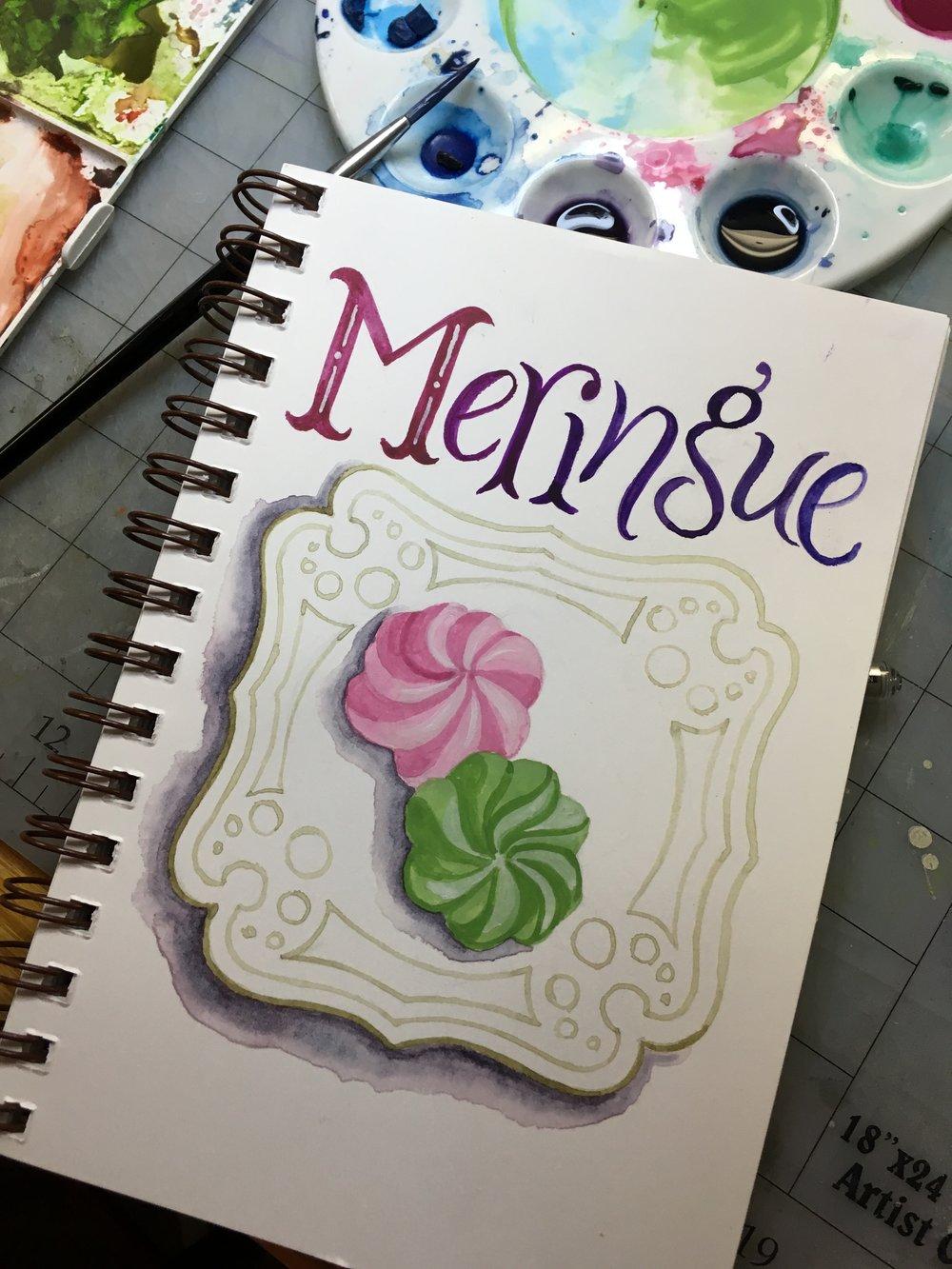 Meringue, watercolor © Denise Ortakales