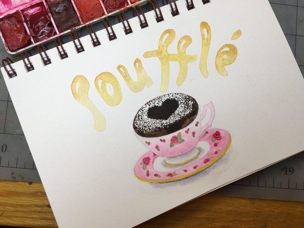 Soufflé, watercolor © Denise Ortakales