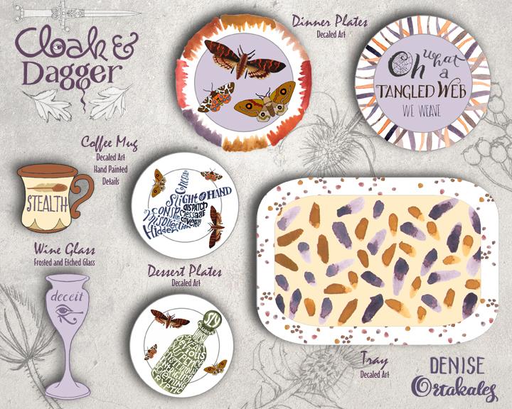 Cloak & Dagger Dinnerware © Denise Ortakales