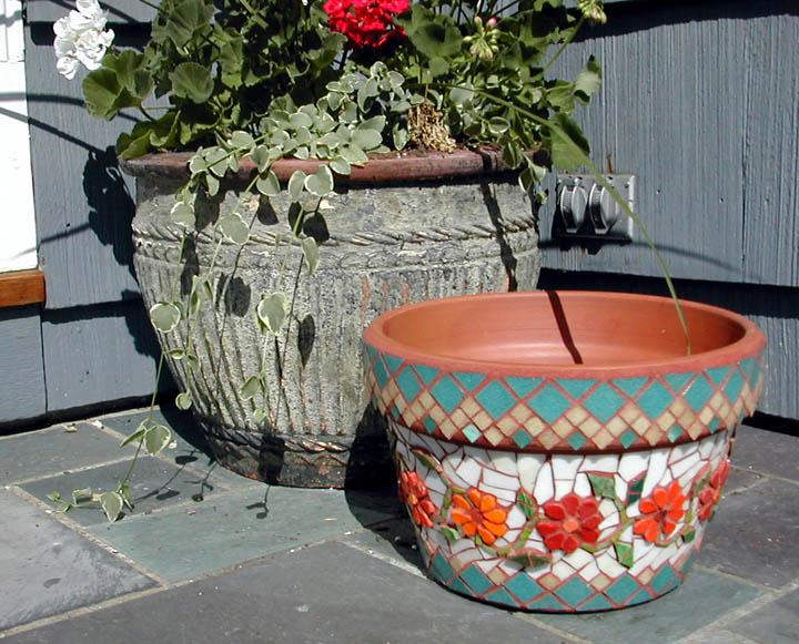 Mosaic Flower Pot © Denise Ortakales