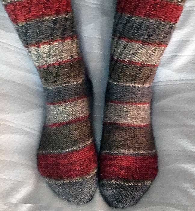 Red and Brown Striped Socks © Denise Ortakales