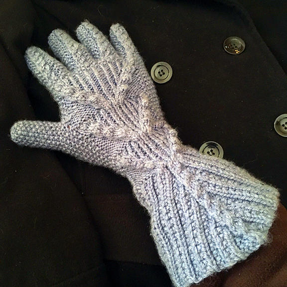 Slate Blue Sleigh-Ride Gloves © Denise Ortakales