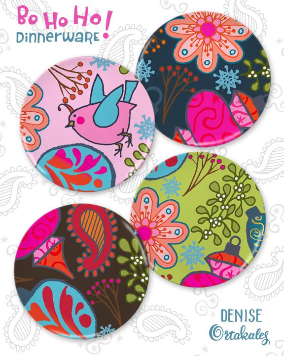 Bo Ho Ho! Dinnerware © Denise Ortakales