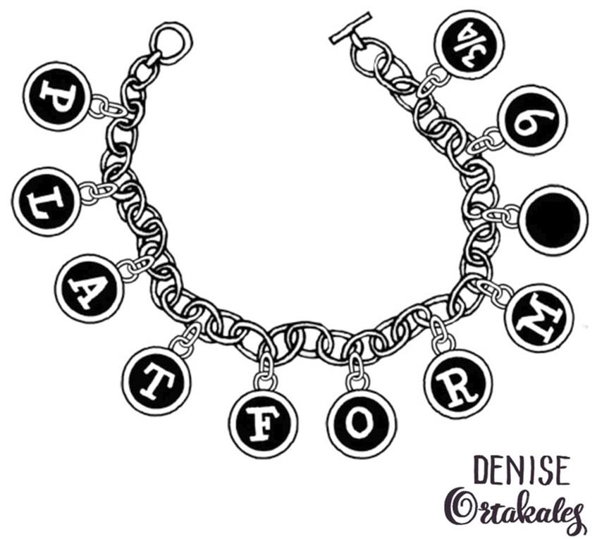 Platform 9 3/4 Charm Bracelet, sharpie © Denise Ortakales