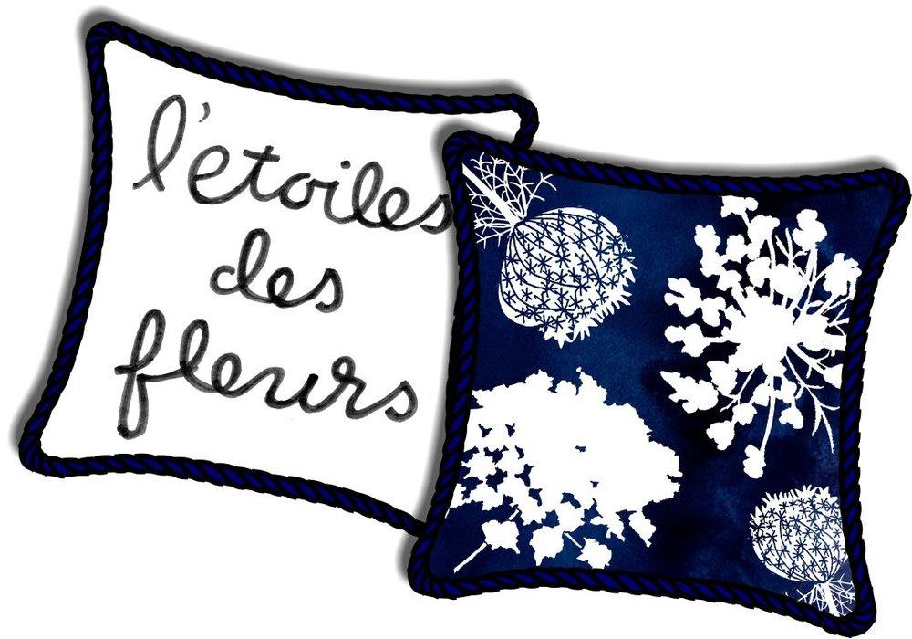 L'etoiles des Fleurs, mixed media © Denise Ortakales