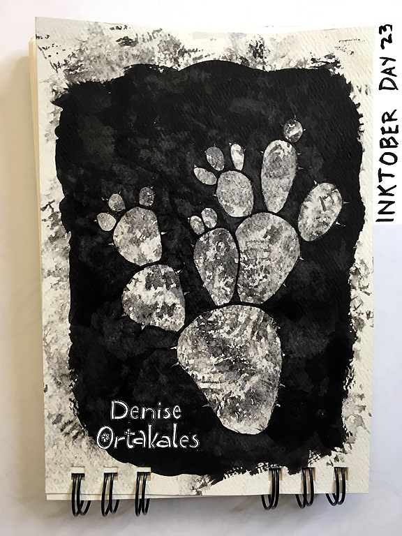 Prickly Pear, India Ink © Denise Ortakales