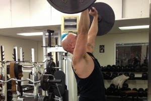 Pitcher Overhead Press