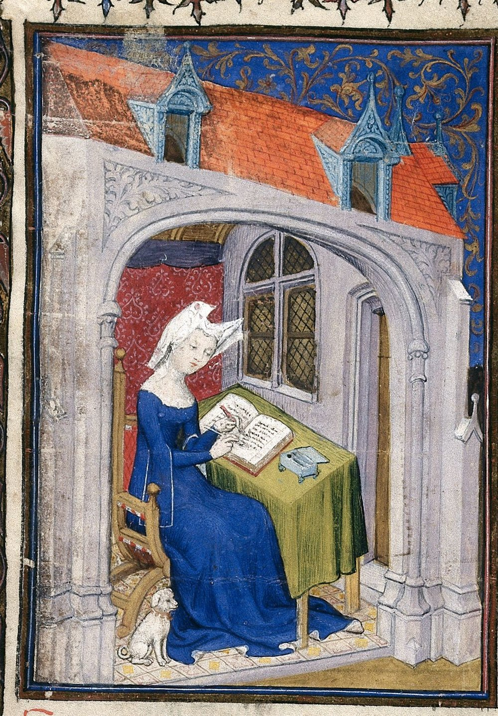 A Room of her own - Married at fifteen, mother of three, widowed at twenty-five – such a description could apply to thousands of medieval women, but Christine de Pizan was no ordinary medieval woman. She supported her family as a professional writer, produced many works of poetry, wrote a manual on war and chivalry, and advised kings and nobles on politics. In her most influential work, Christine publicly engaged in epistolary debate with the intellectuals of her day, defending the value of women. She expanded her defense of women in other works, notably The Book of the City of Ladies. In this concert, we explore the music of the courts in which Christine grew up and worked, set side by side with readings taken from this latter book, painting an aural picture of women and their status in early fifteenth-century France.