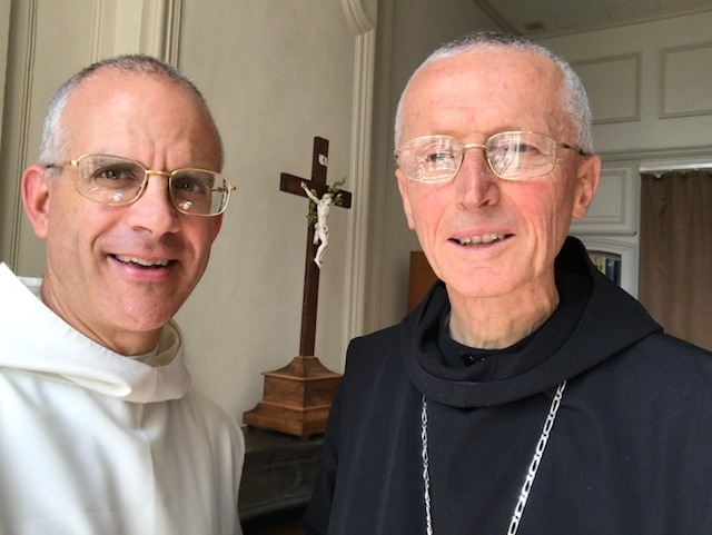 Father Prior with Abbot Antoine Beauchef of Flavigny, 7 July 2017