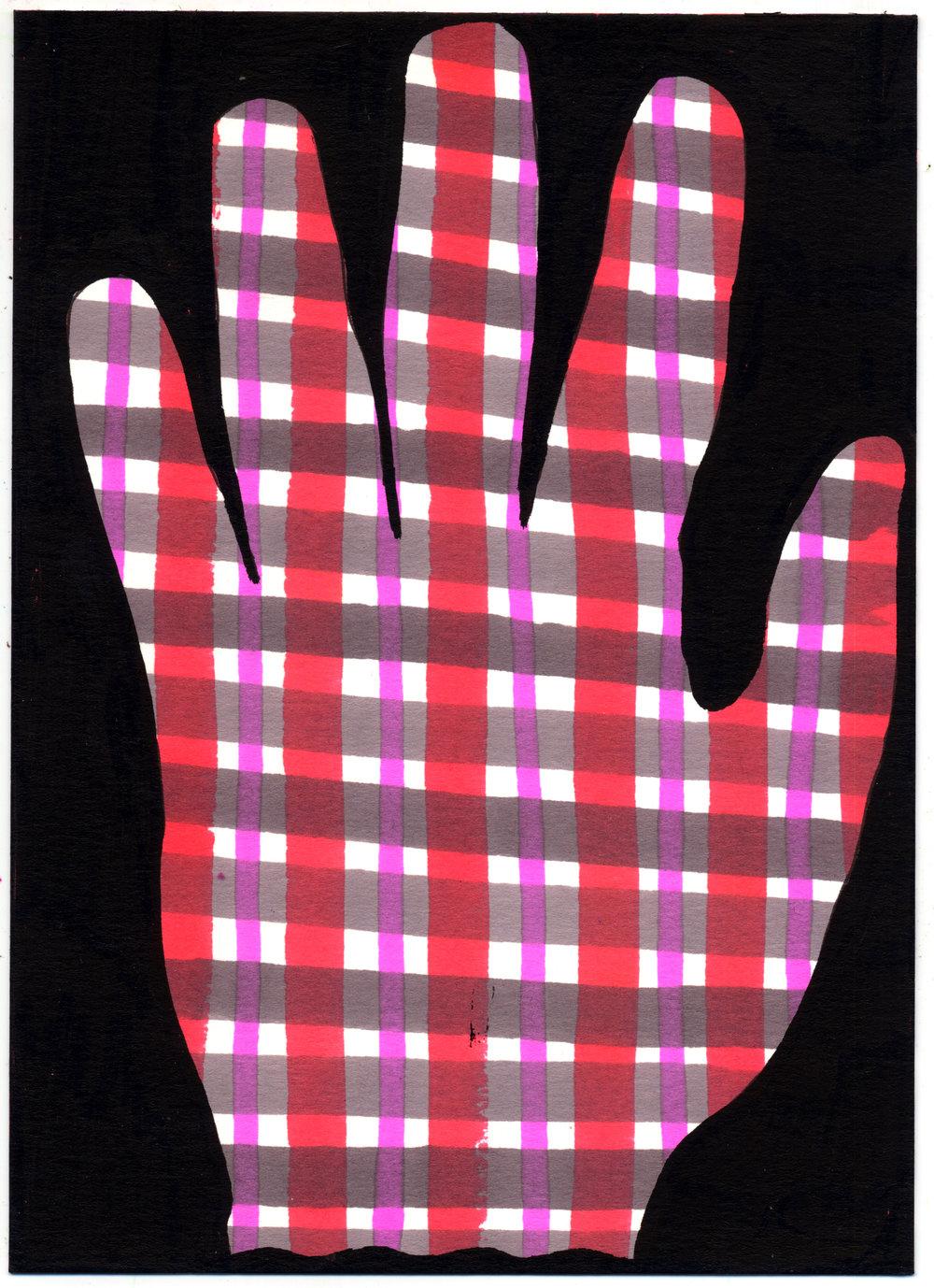 Plaid Hand