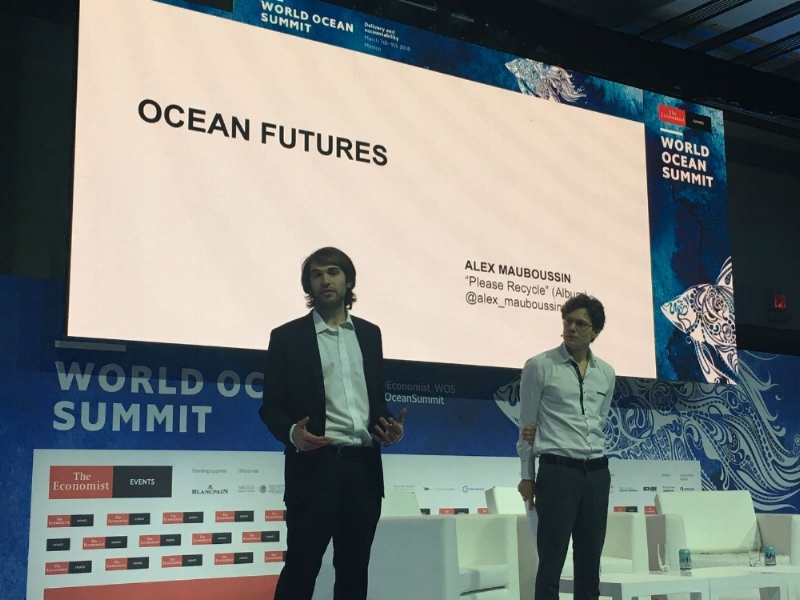 Presenting  Please Recycle  at the Economist's 2018 World Ocean Summit