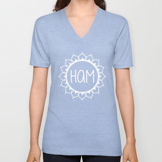 Ham Chakra Mantra V-neck T-shirt