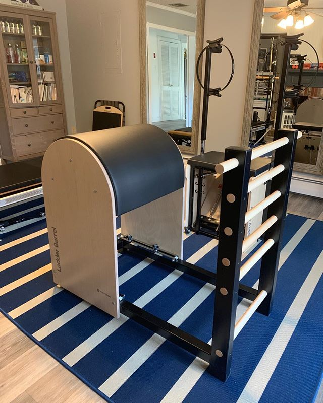 I will be doing ladder barrel for the rest of my da #pilates #fitmommies #soexcitedaboutnewequipment
