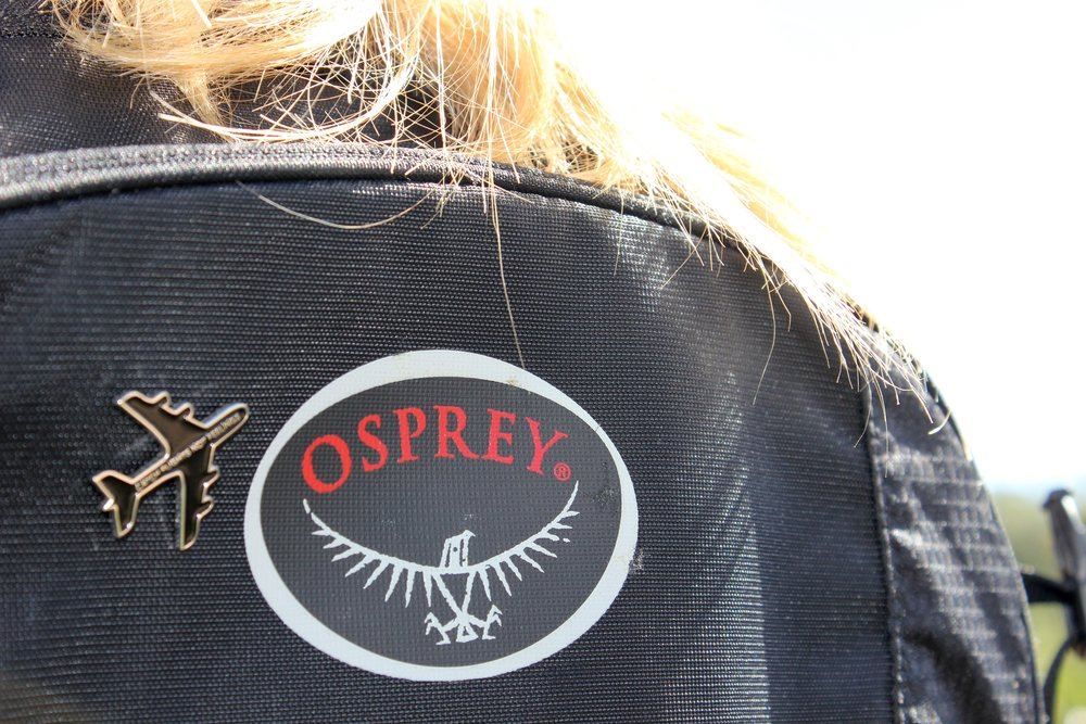 My trusty dusty  Osprey , backpack of my dreams and perfect travel bag