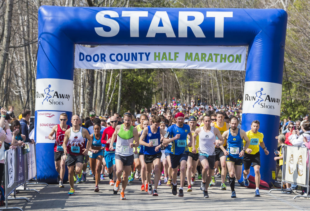 - Door County is famous for it's marathon running events which occur throughout the year.