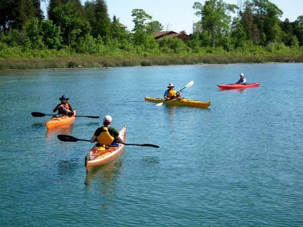 - Kayaking is very popular in Door County. Clubs and friends enjoy the incredible scenery. Visitors can buy or rent kayaks at numerous locations on the peninsula.