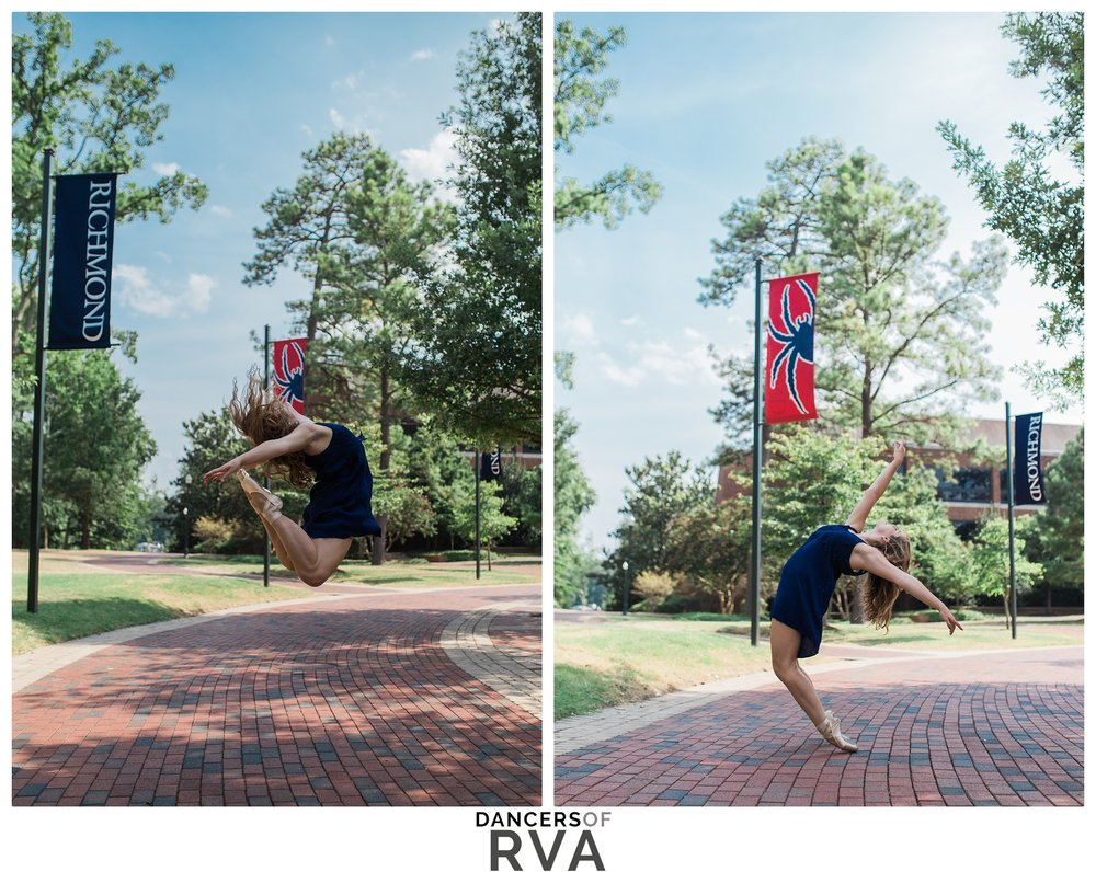 University of Richmond Photography Session Dance Session Richmond VA Gianna Grace Photography Stavna Ballet