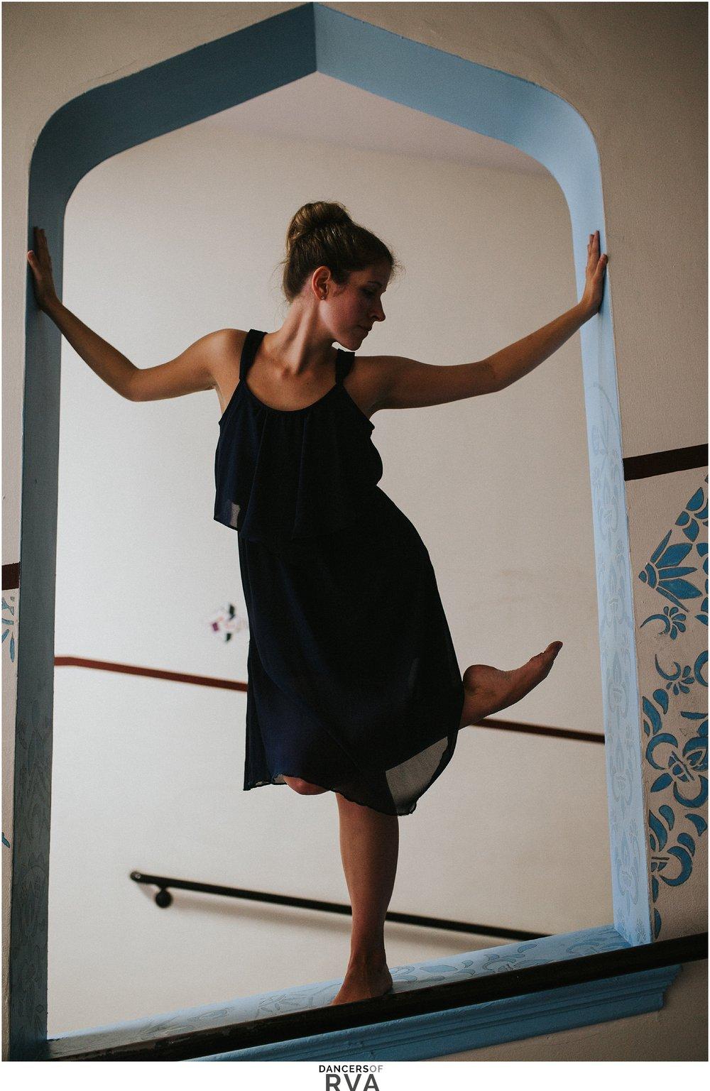 Bidford Middle School Teacher dances in the hallway of her school