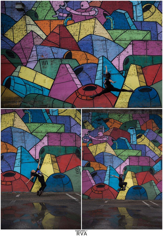 RVA Murals Richmond VA Dancer Photoshoot