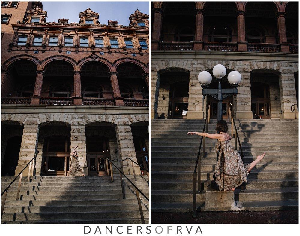 Richmond VA Dance Photographer Down town Richmond Photography Session