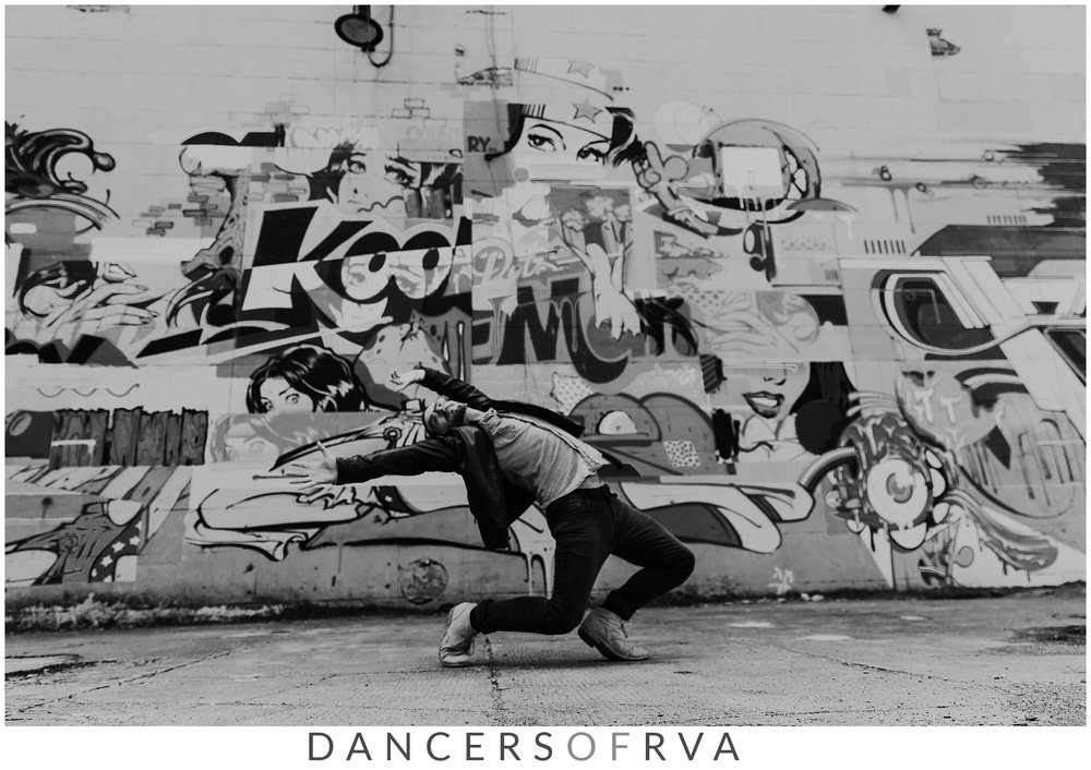 Dancer in front of Richmond Murals