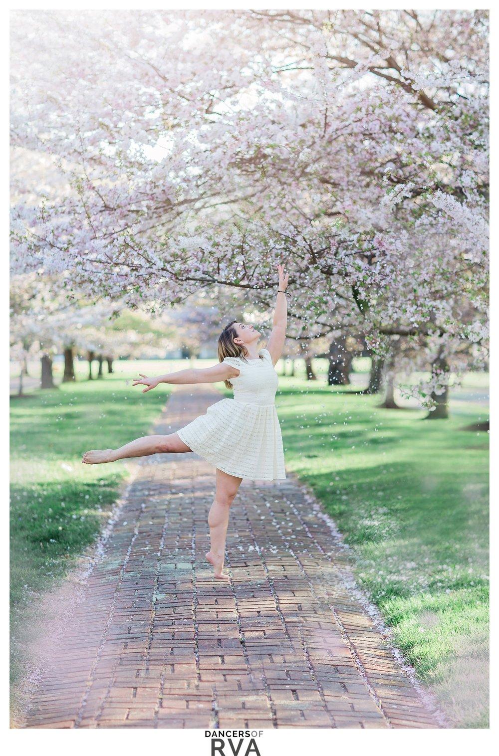 Richmond- VA- Dance- Project-Dancer-in-Windsor-Farms-Cherry-Blossoms