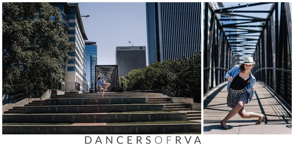 Dancer in Richmond VA Canal Walk Photo Session Dance Photographer