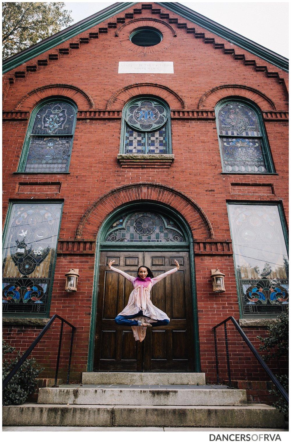 Downtown Richmond VA Dancer in Church Hill overlook
