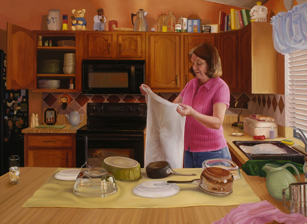 3.  Mom in kitchen, oil on panel, 2006.jpg