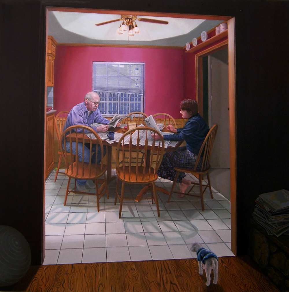 4.  Dad and Mary Over Breakfast, Oil on canvas, 2007.jpg