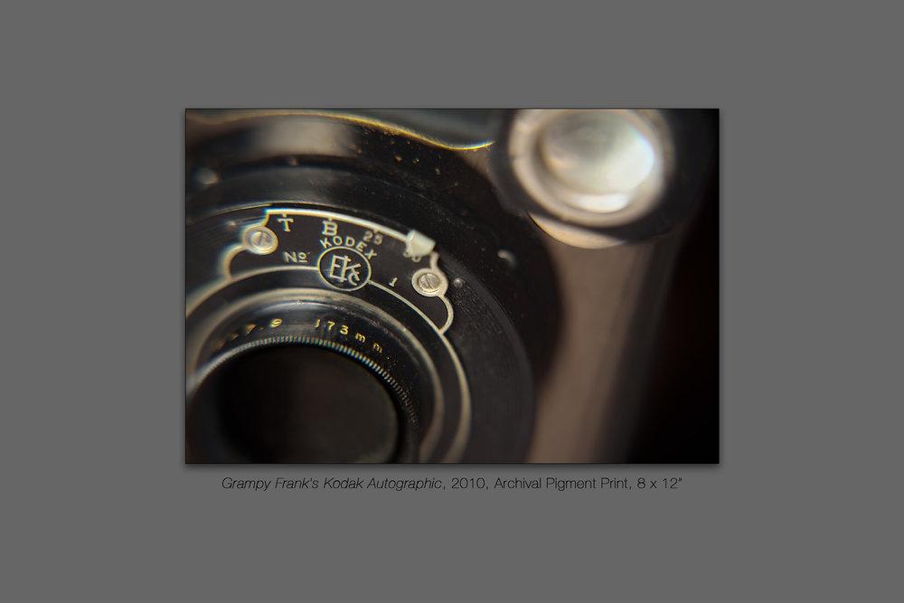 Grampy Frank's Kodak Autographic, 2010