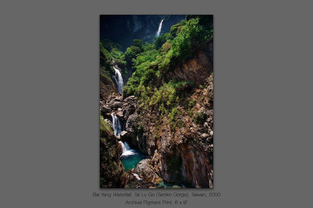 Bai Yang Waterfall, Tai Lu Ge (Taroko Gorge), Taiwan, 2000
