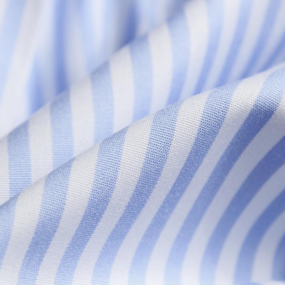 Bora 58 Celeste Striped Poplin- Supima® Cotton