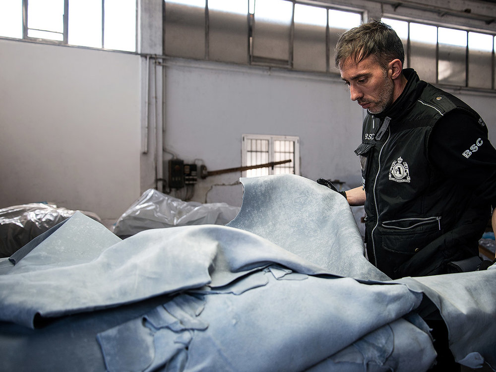 Alaska's A-Team analyzes consistency between batches of leather textiles