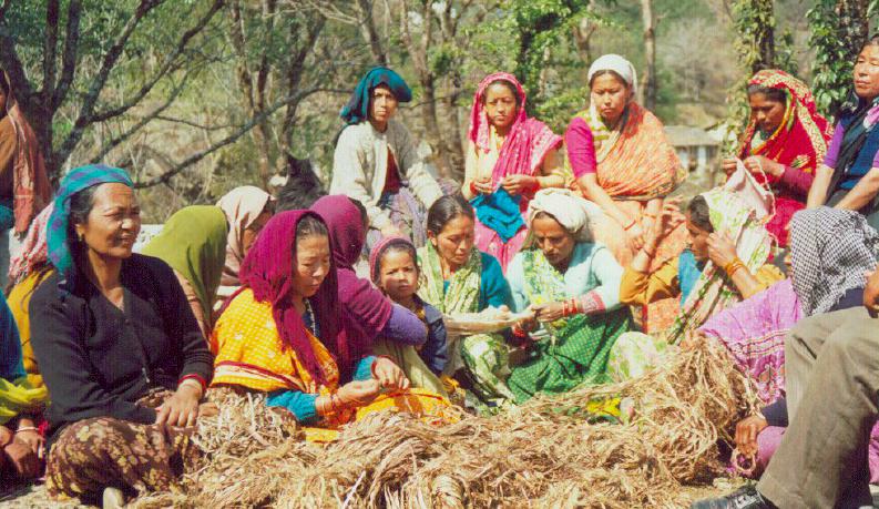 Women Weavers of Kumaon. Courtesy of Panchachuli