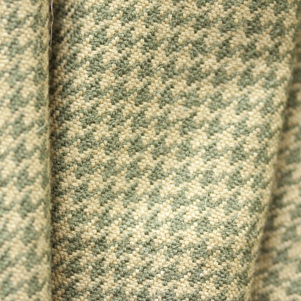 Lambs Wool Hand Woven Houndstooth Tweed