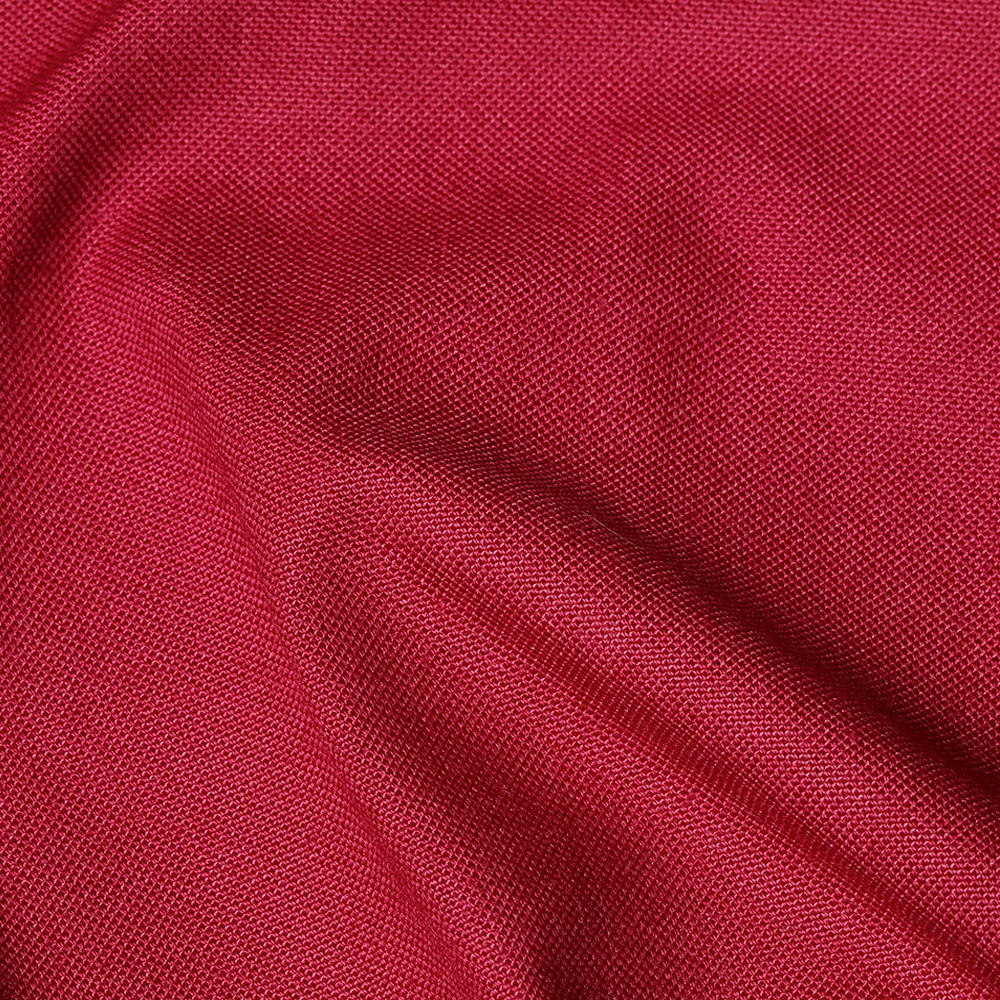 Beet Red Cotton and Nylon Half Panama