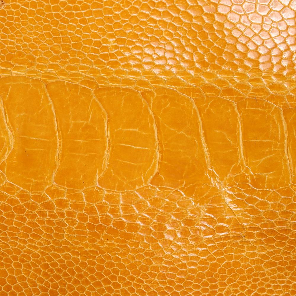 Ostrich Leg Skin in Chrysanthemum GL