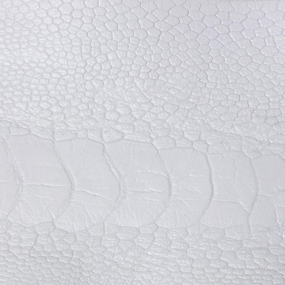 Ostrich Leg Skin in Ice White CF