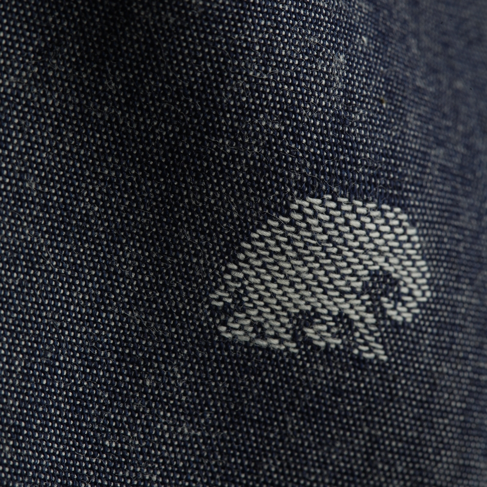 Fisher Jacquard Cotton with Elephant Pattern, Indigo