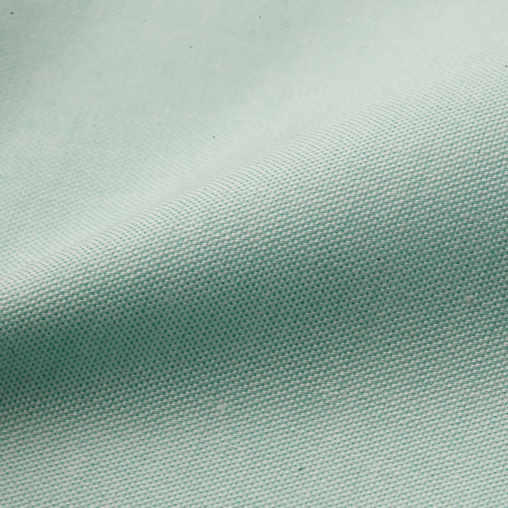 Liliana Mint Green Cotton and Polyester Blend Oxford