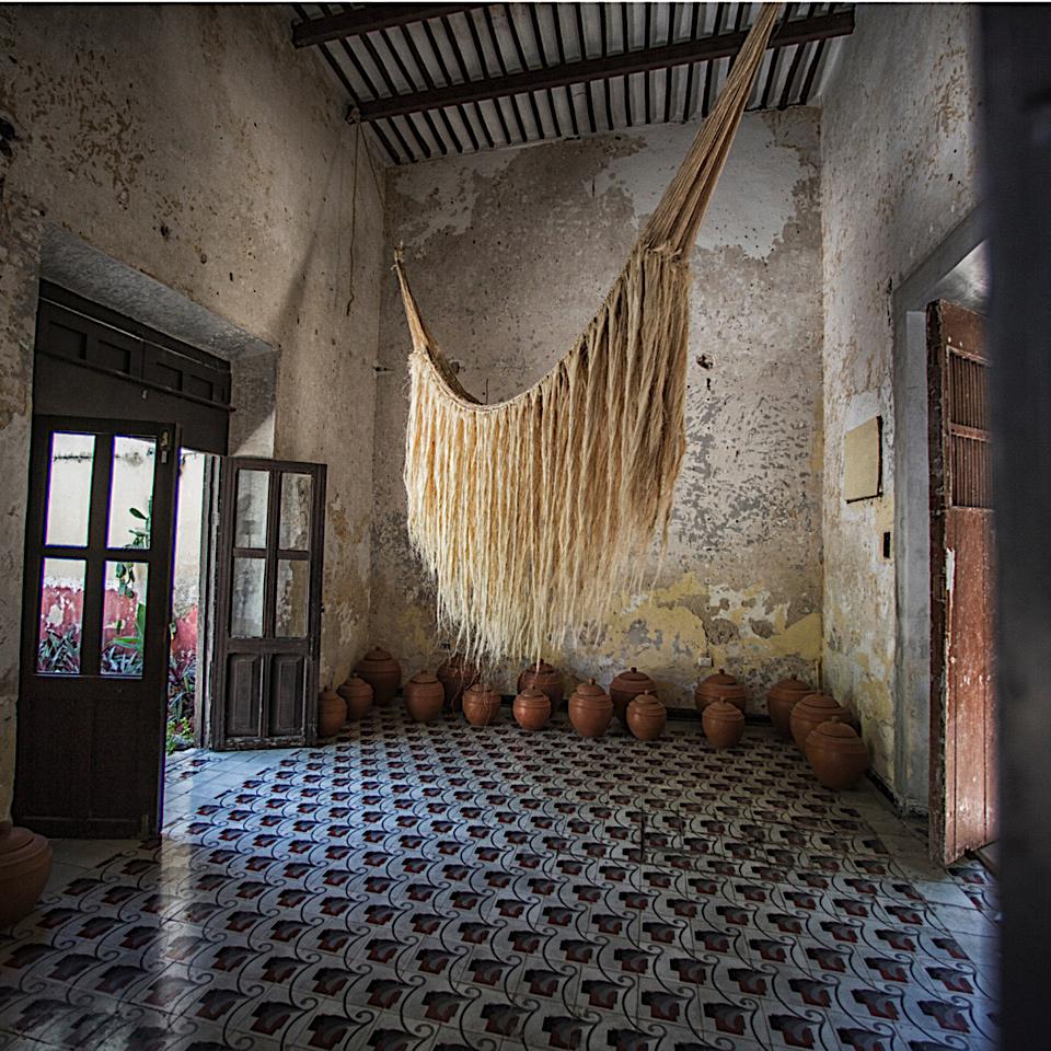 DABU HAND BLOCK PRINT IN Silk CREPE - INDIGO DREAM