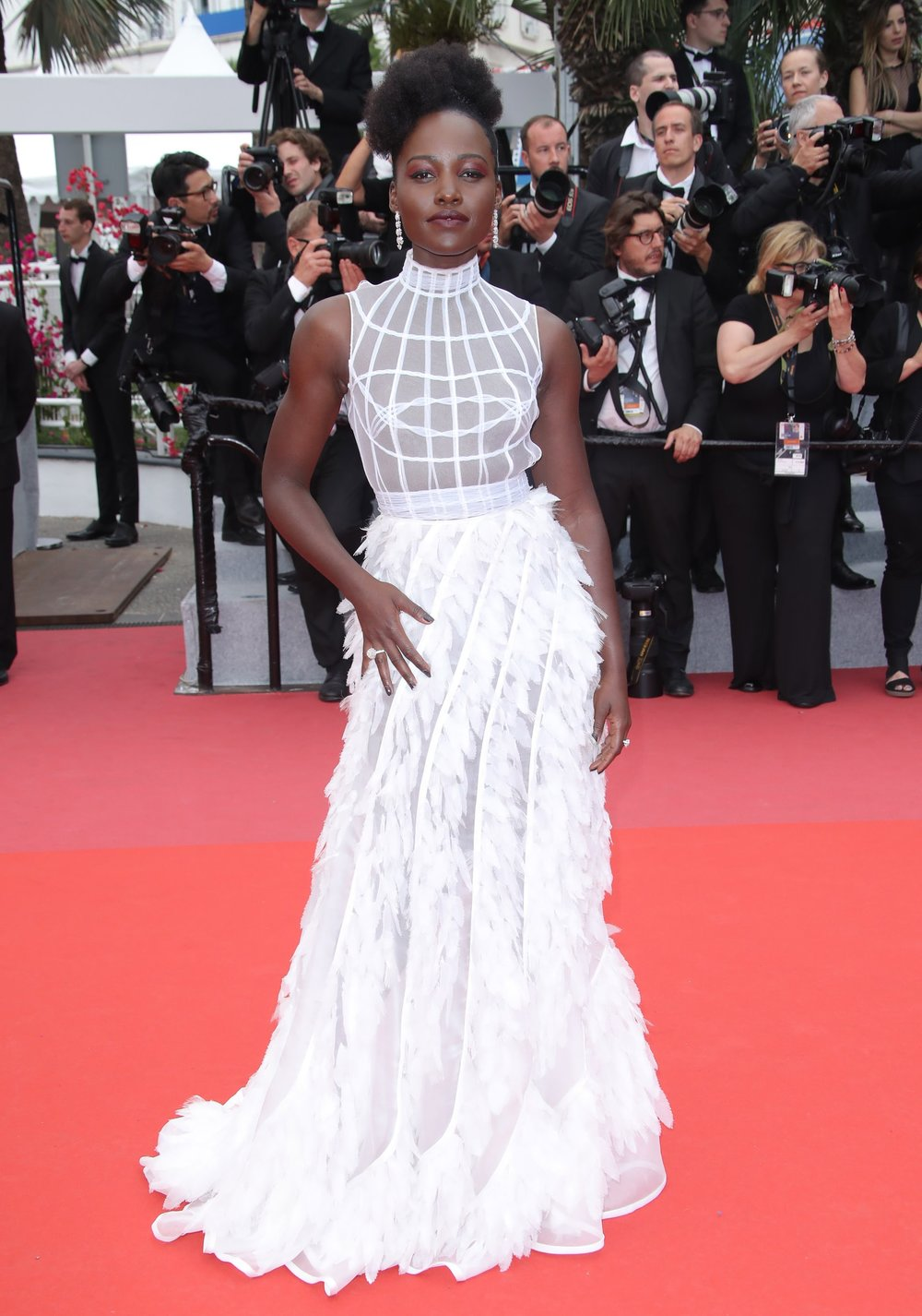 Lupita Nyong'o at the Cannes film festival this month.