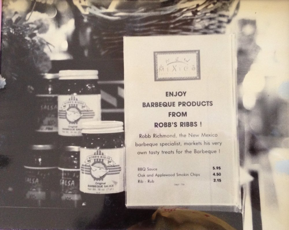 Bloomingdale's display of Robb's Ribbs BBQ sauce from exotic New Mexico in New York!
