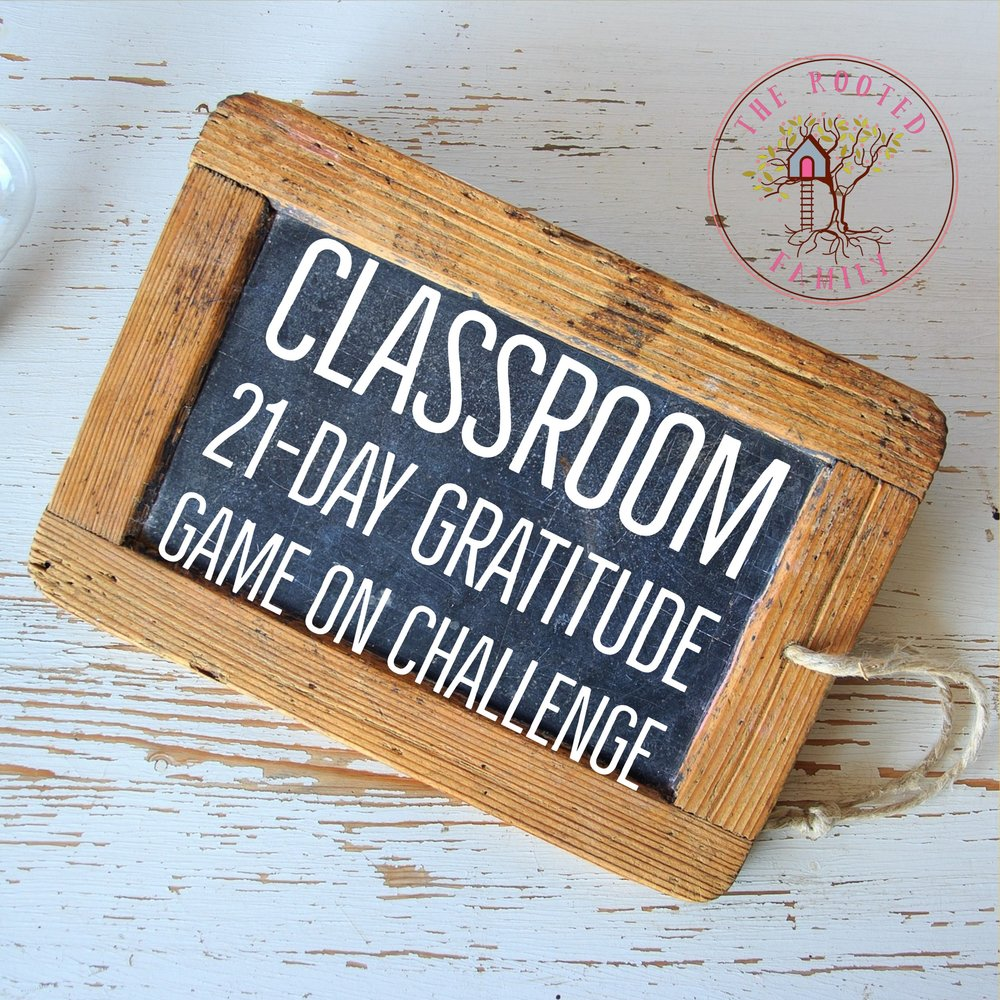 21 Day Classroom Gratitude Challenge Online Course - This is a 21-day course in gratitude, social/emotional learning, and mindfulness targeted to increase cooperation, communication, gratitude, growth mindset, mindful awareness of self and others, and overall well-being. This course is designed to help your students develop an active practice of gratitude which has been shown to increase focus, connection to self and others, empathy, improved immune system response, restful sleep, improved mood and more!
