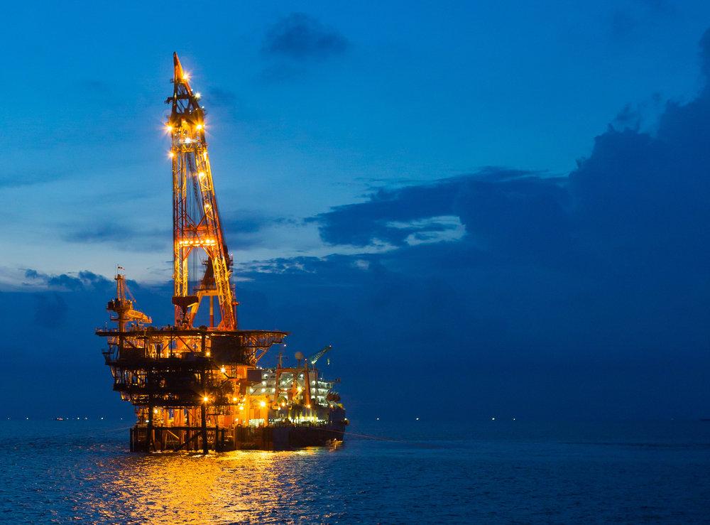 Plataformas marítimas petrolíferas y gasíferas: