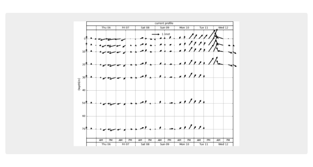 Pronóstico específico para el centro de operaciones: perfil de la corriente