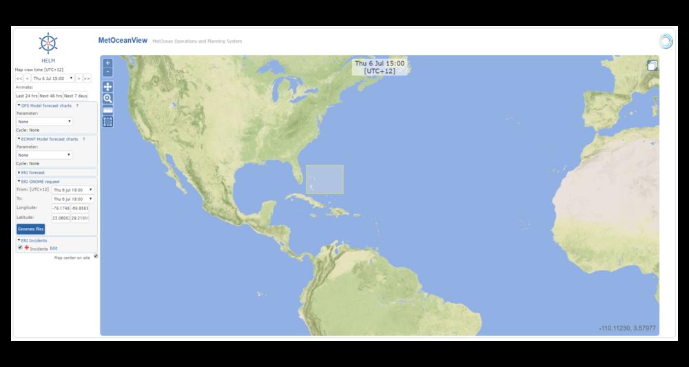 Respuesta ante emergencias: descarga de escenarios y datos de trayectoria de derrames de petróleo