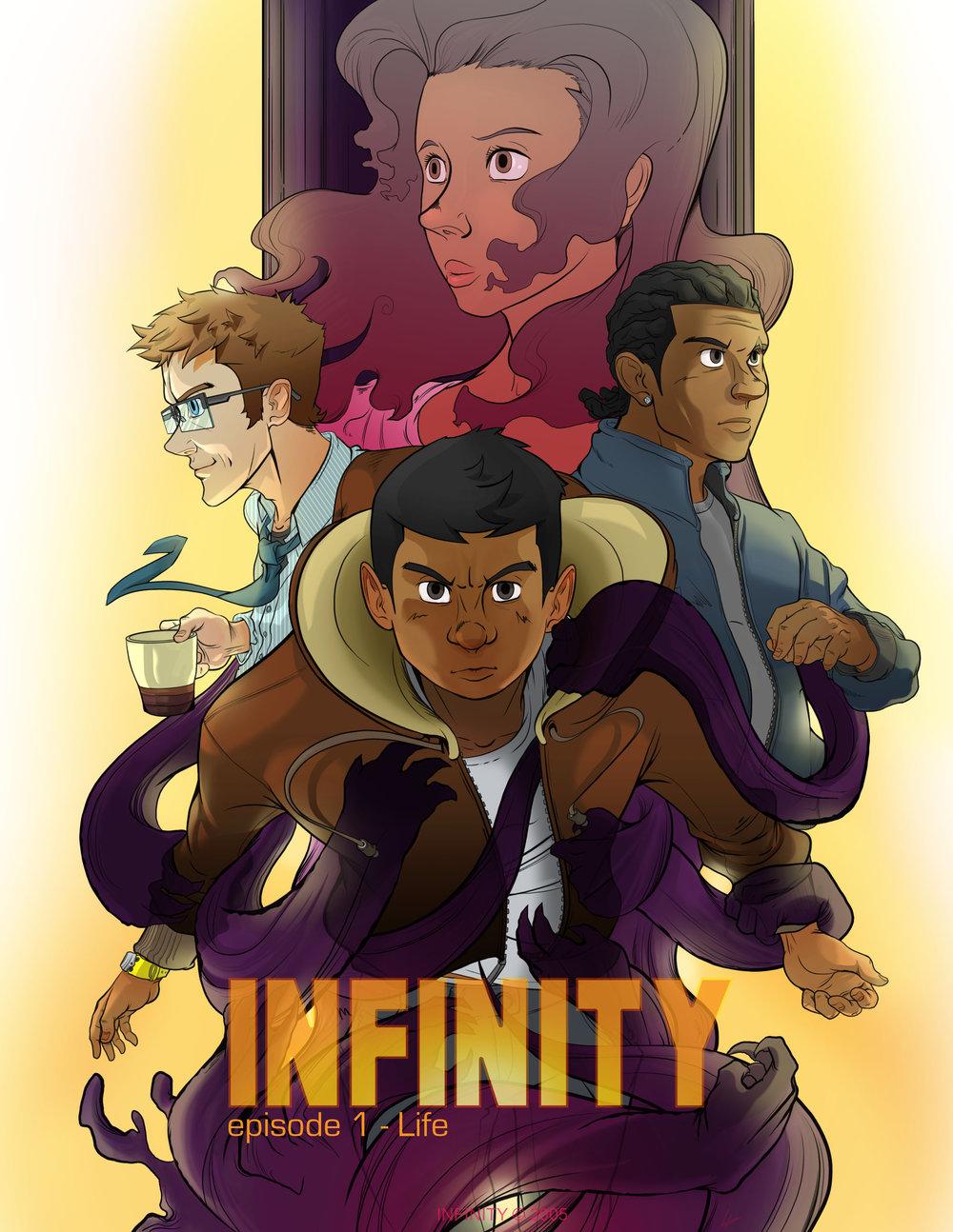 INFINITY - An original comic book series created byLewis Jones.